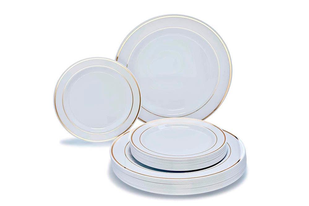 platos blancos